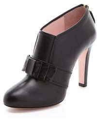 RED Valentino High Heel Booties with Bow - Lyst