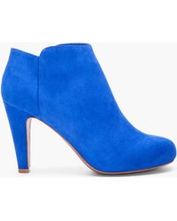 See By Chloé Blue Suede Ankle Boots - Lyst