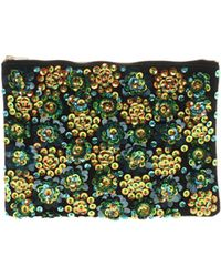 Asos Lily Pad Applique Clutch Bag - Lyst