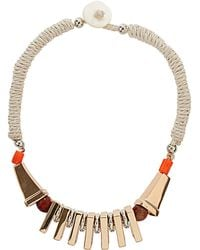 Topshop Square Cord Necklace - Lyst