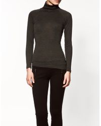 Zara Turtleneck T-shirt - Lyst