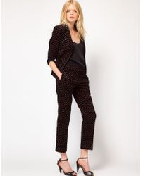 Boutique by Jaeger - Moria Floral Cord Trouser - Lyst