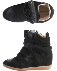 Isabel Marant Bazil Wedge Trainers - Lyst