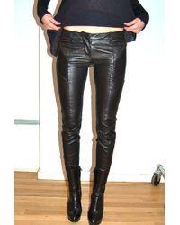 Balmain Leather Biker Pants - Lyst