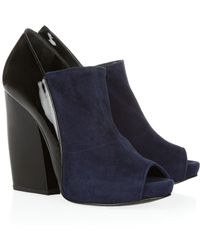 Pierre Hardy Glossedleather and Suede Ankle Boots - Lyst