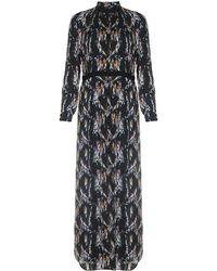 Theyskens' Theory - Derra Crystal Print Maxi Dress - Lyst