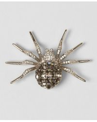 Brooks Brothers - White Crystal Spider Brooch - Lyst