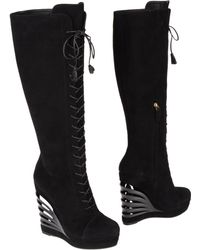 Yves Saint Laurent Rive Gauche Highheeled Boots - Lyst