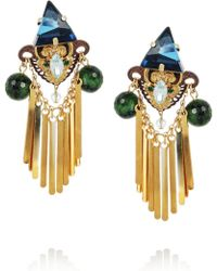 Erickson Beamon Goldplated Swarovski Crystal and Ruby Zoite Earrings - Lyst