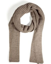 Cacharel - Warm Taupe Knit Scarf - Lyst