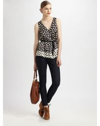 Marc By Marc Jacobs Odessa Belted Print Top - Lyst