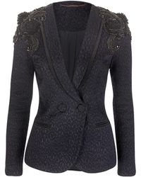 Matthew Williamson Animal Jacquard Tailoring Tailored Jacket - Lyst