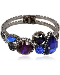 Erickson Beamon - Purple and Blue Crystal Bracelet - Lyst