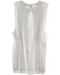 H&M Top white - Lyst