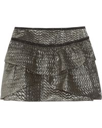 Isabel Marant Bilbao Metallic Brocade Mini Skirt gray - Lyst