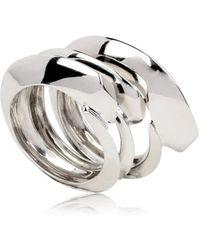 KD2024 - Triple Silver Ring - Lyst