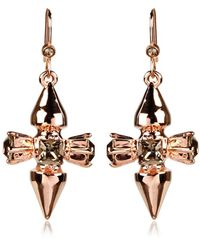 Mawi Double Spike and Crystal Hook Earrings gold - Lyst