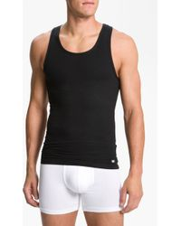 Michael Kors Defined Stretch Cotton Tank Top - Lyst