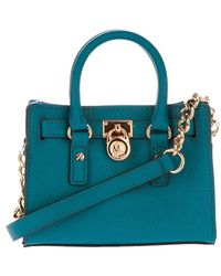Michael Kors Cobalt Mini Hamilton Bag - Lyst