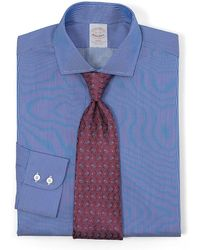 Brooks Brothers Golden Fleece® All-Cotton Slim Fit Textured Pinstripe Luxury Dress Shirt - Lyst