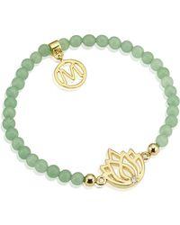 Melissa Odabash - Gold Lotus Semiprecious Bracelet - Lyst