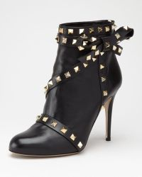Valentino Studded Leather Ankle Boot - Lyst