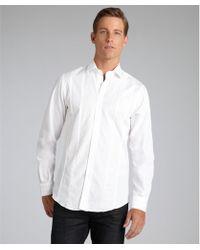 Etro White Tonal Stripe Cotton 'Roxy' Dress Shirt - Lyst
