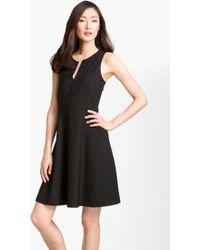 Theory Etiara Tailor Vneck Dress - Lyst
