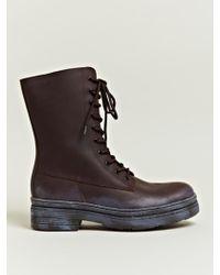 Yohji Yamamoto - Mens Leather Engineer Boots - Lyst
