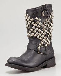 Ash Tokyo Studded Flat Short Boot - Lyst