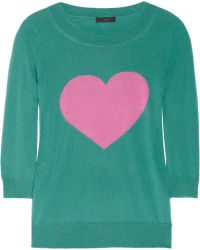 J.Crew Tippi Fineknit Merino Wool Heart Sweater - Lyst