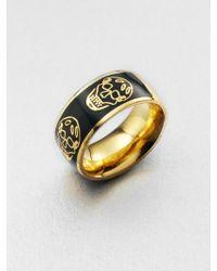 Alexander McQueen Skull Ring - Lyst