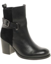 Asos Asos Avore Leather Ankle Boots with Straps - Lyst