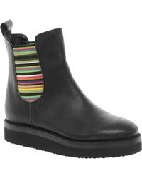 Asos Asos Alley Leather Flatform Chelsea Ankle Boots - Lyst