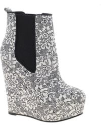 Asos Asos Attend Chelsea Wedge Ankle Boots - Lyst