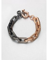 Marc By Marc Jacobs Bicolor Link Bracelet gold - Lyst