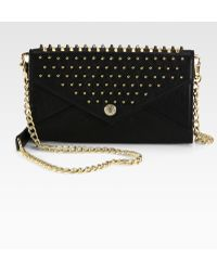 Rebecca Minkoff Studded Continental Wallet - Lyst