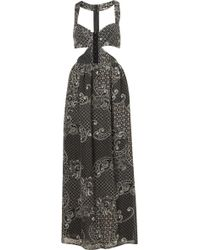 Topshop Paisley Cut Out Maxi Dress - Lyst