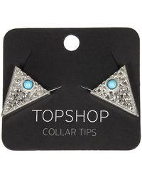 Topshop Collar Tips - Lyst