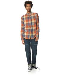 French Connection Grapple Twill Check Shirt - Lyst