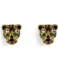 Juicy Couture - Gold Leopard Earrings - Lyst