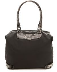 Rebecca Minkoff Travel Tote with Python Trim - Lyst