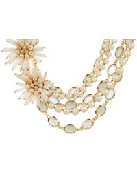 Kate Spade Moonlight Pearls Statement Necklace - Lyst