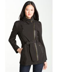 MICHAEL Michael Kors Asymmetrical Trench Coat - Lyst