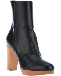 Stella McCartney Wooden Heel Boots - Lyst