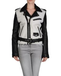 American Retro Leather Outerwear - Lyst
