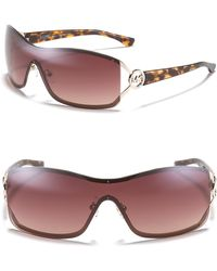 Michael Kors Michael Verona Shield Sunglasses - Lyst