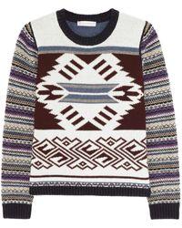 Paul & Joe Sister Alaska Woolblend Intarsia Sweater - Lyst