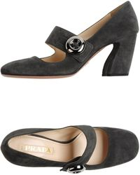 Prada Closedtoe Slipons - Lyst
