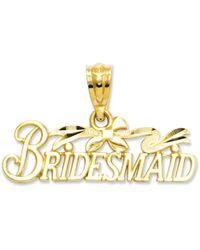 Eci Diamondcut Bridesmaid Charm - Lyst